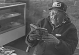 Elder reading